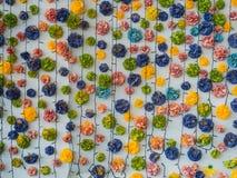 Backround искусственного цветка и света СИД Стоковое фото RF