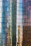 Backround abstract glas die veelkleurige bezinning bouwen Royalty-vrije Stock Foto