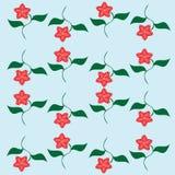 Backround abstracto con las flores Ilustración del Vector
