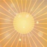 Backround abstrait avec le rayon de soleil Photo stock