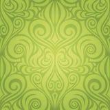 Backround adornado decorativo del vector del papel pintado del modelo de Pascua de la primavera floral verde libre illustration