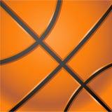 Backround arancione di pallacanestro Fotografie Stock Libere da Diritti