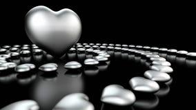 Backround astratto dei cuori di amore Immagine Stock