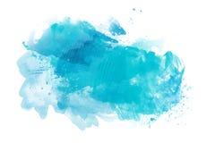 Backround azul da aquarela isolado no branco imagens de stock