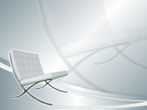 Backround blanco con la butaca Imagen de archivo libre de regalías