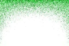 在白色backround的绿色下跌的微粒圆形 向量 图库摄影