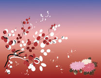 Backround de fleur Illustration Stock