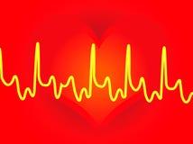 Backround de los corazones Ilustración del Vector