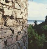 Backround de mer de briques de texture image stock