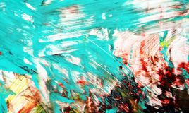 Backround de peinture vif lumineux rouge bleu, fond de peinture abstrait d'aquarelle photo stock