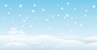 Backround della neve Immagini Stock