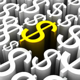 Backround of dollars currency symbol Stock Photos