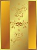 Backround dourado Imagens de Stock