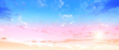 Backround för färghimmelsommar Arkivbild