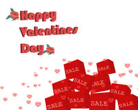 Backround feliz do dia dos Valentim Foto de Stock Royalty Free