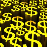 Backround of gold dollars currency symbol Stock Photography