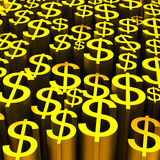 Backround of gold dollars currency symbol Stock Photo