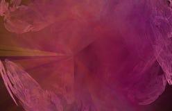 Backround ou textura abstrata amarela vermelha do círculo do fractal ilustração do vetor