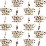 Backround pattern with coffee cups Stock Image