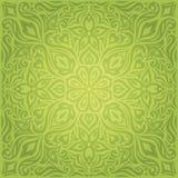 Backround repetible del diseño de Pascua del modelo del vector adornado decorativo floral verde del papel pintado
