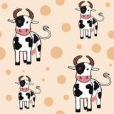Backround senza cuciture delle mucche adorabili Fotografia Stock