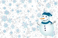 Backround, snowlakes, Royalty Free Stock Image