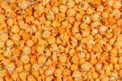Backround strutturato di un popcorn isolato sui precedenti bianchi Immagine Stock Libera da Diritti
