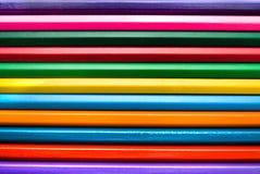 Backround van kleurenpotloden Stock Foto