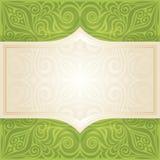 Backround verde del diseño de la mandala del vector del papel pintado floral de Pascua con el espacio de la copia libre illustration