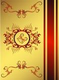 Backround vermelho dourado clássico ilustração do vetor