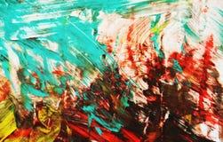 Backround vif lumineux jaune rouge noir bleu de peinture, fond de peinture abstrait d'aquarelle photographie stock