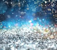 Silver sparkly crystal background. Backround of Xmas decoration with sparkly silver crystal stock illustration