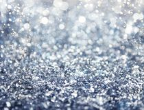 Silver sparkly crystal background. Backround of Xmas decoration with sparkly silver crystal Stock Photography