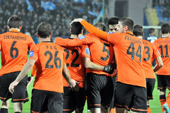 Backs the team Shakhtar Royalty Free Stock Images