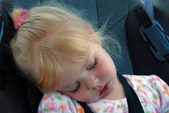 Backseat Nap Stock Images