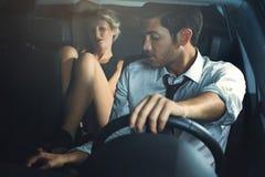 Backseat seduction Stock Photography