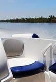 Backseat speadboat surf sea spray wash Royalty Free Stock Images