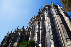 Backside of the Aachen Cathedral Stock Image