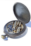 Backside of Antique Pocket Watch Stock Photography