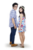 Backside of attractive young couple Royalty Free Stock Image