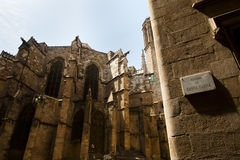 Backside of Barcelona Cathedral royalty free stock photo