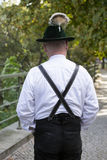 Backside of bavarian man Royalty Free Stock Images