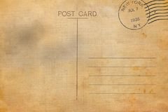 Backside of blank postcard. With dirty stain royalty free illustration
