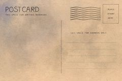 Backside of blank postcard stock illustration