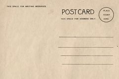 Backside of blank postcard with dirty stain stock illustration
