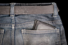 Backside of blue jeans Royalty Free Stock Photo