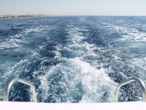 Backside of the boat. In Egypt Royalty Free Stock Photography