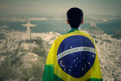 Backside of brazilian fans Royalty Free Stock Photos