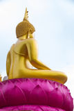 Backside Buddha with sky. Backside of Buddha with sky at Ubonratchathani,Thailand Royalty Free Stock Photos