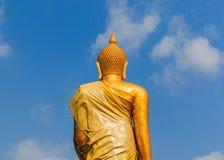 Backside buddha statue. At Chonburi thailand Stock Image